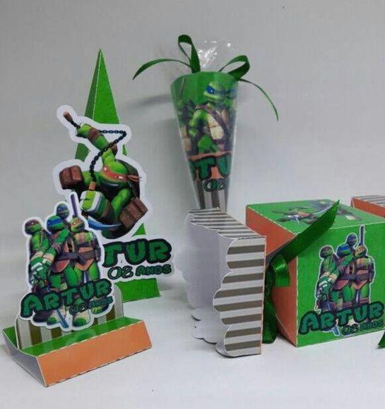 Tartarugas Ninja + NOME EM 3D