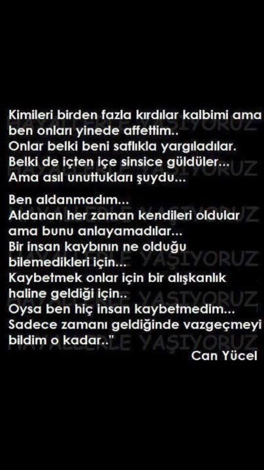 Can Yücel...
