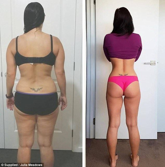 How mother-of-two, 33, transformed her body in just EIGHT months