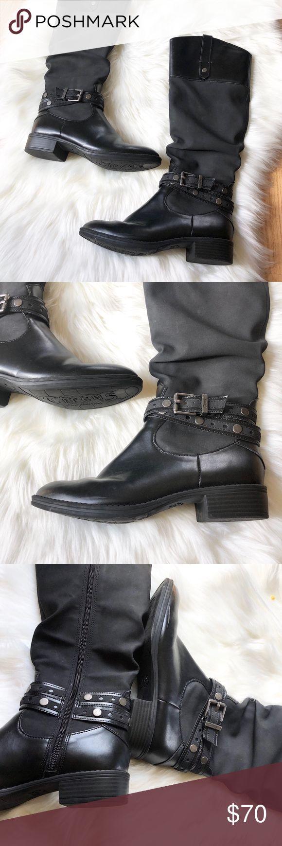 Sam Edelman schwarz Motorradstiefel 6,5 Paxton Style Größe auf Schuhen: 6,5 M Circus by …   – Motorrad