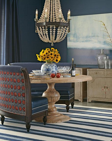 Shop Noble Banquette Arden Dining Table From Massoud At Horchow Where Youll Find New Lower Shipping On Hundreds Of Home Furnishings And Gifts
