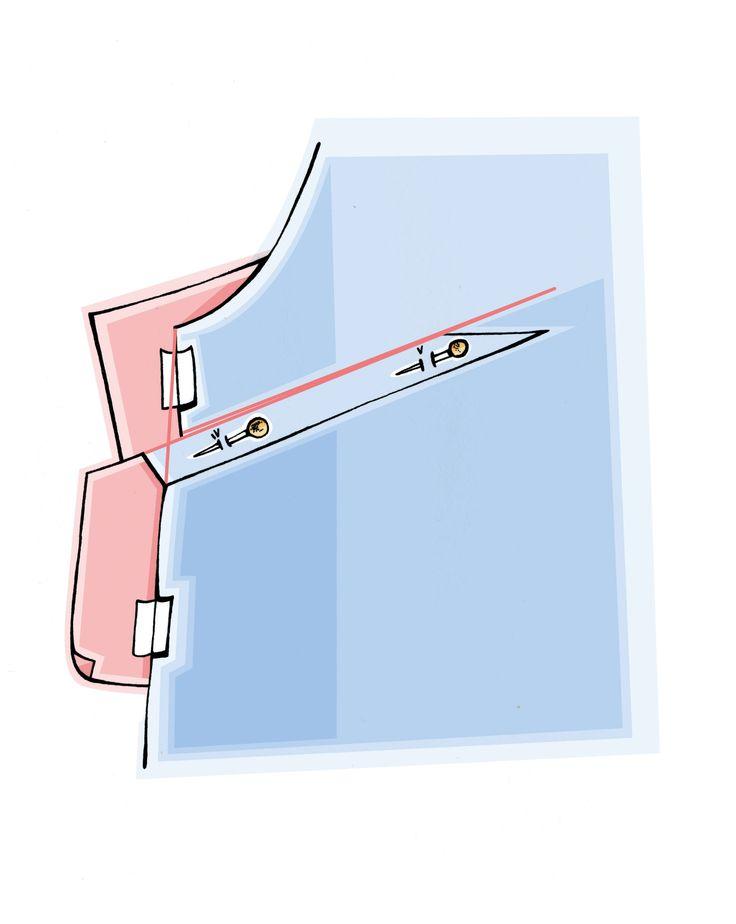 Brustabnäher Verlegen, Step 3