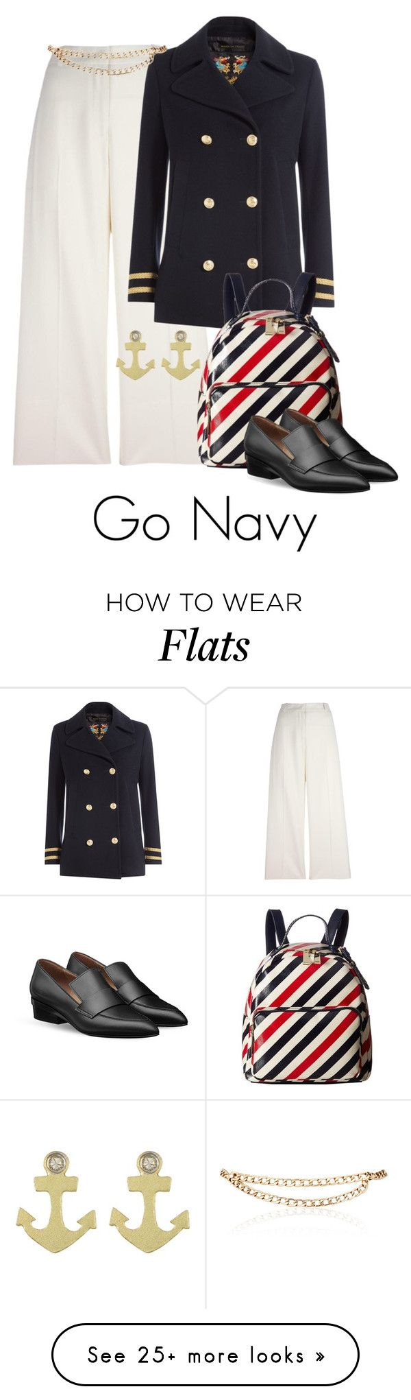 """""""Go NAVY Military Look!"""" by shamrockclover on Polyvore featuring Ermanno Scervino, The Seafarer, Maison Mayle, Meira T and Tommy Hilfiger"""