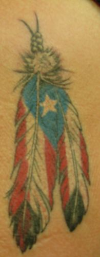 puerto rico tattoo | Looking for unique Chris Harrison Tattoos? puerto rico feather tattoo