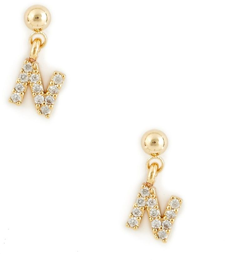 Sole Society Womens Dainty Initial Earrings In Color: Gold A One Size From Sole Society aCgiiZ9K