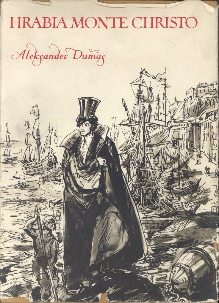 """""""Hrabia Monte Christo"""" (Le comte de Monte Christo) Alexandre Dumas vol. 2 Translated by Jan Rogodziński Cover and illustrated by Antoni Uniechowski Published by Wydawnictwo Iskry 1956"""
