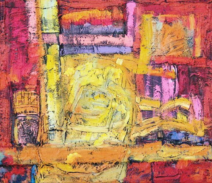 Cuadro moderno estilo abstracto colores oto ales y - Cuadros estilo moderno ...