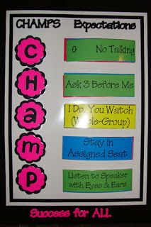 Jdy Ramble On: CHAMPS Classroom Management Examples for Middle School - Printables