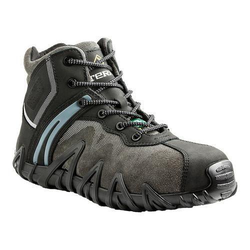 Men's Terra Venom Mid 6in Composite Toe Safety Work Boot Suede/Full Grain Leather
