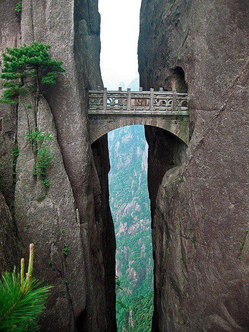 El puente de los inmortales, Huangshan, China