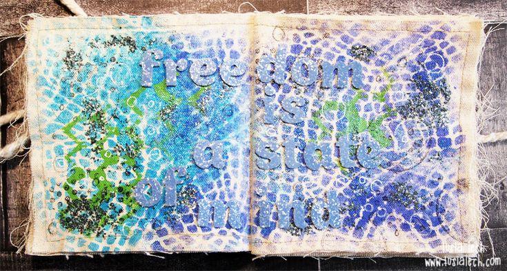 canvas art-journal spread