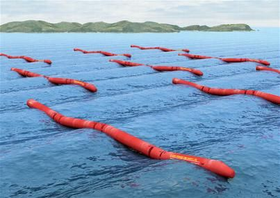 Pelamis Wave generates electricity from the waves...brilliant stuff!