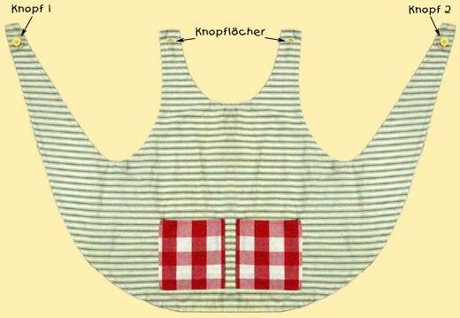 Apron for Pippi Longstocking