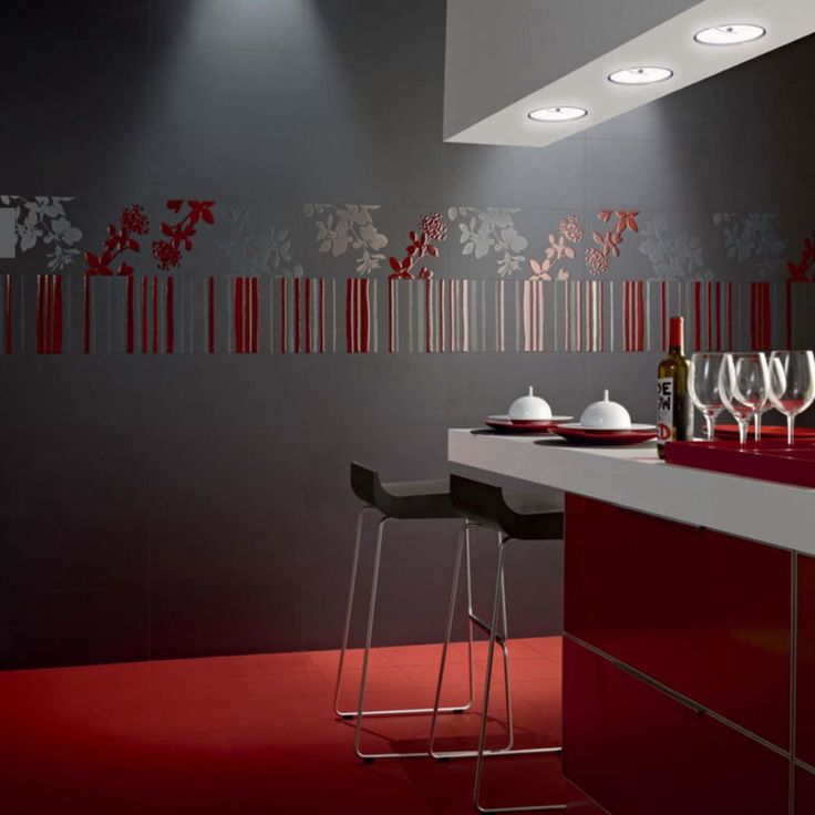 17 beste idee n over rode vloer op pinterest spaanse keuken gekleurde keukenkasten en - Rode metro tegel ...