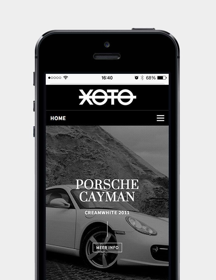 Xoto - Homepage op smartphone | by Skinn Branding Agency
