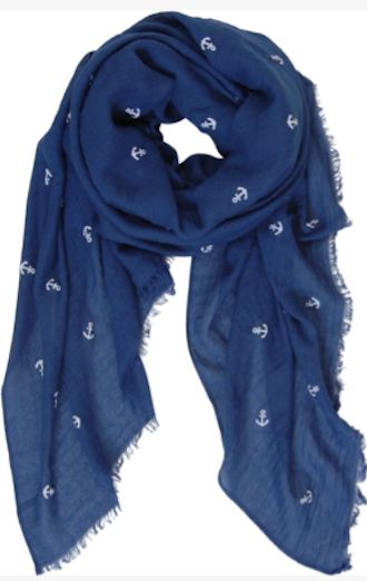 pretty lightweight anchor scarf