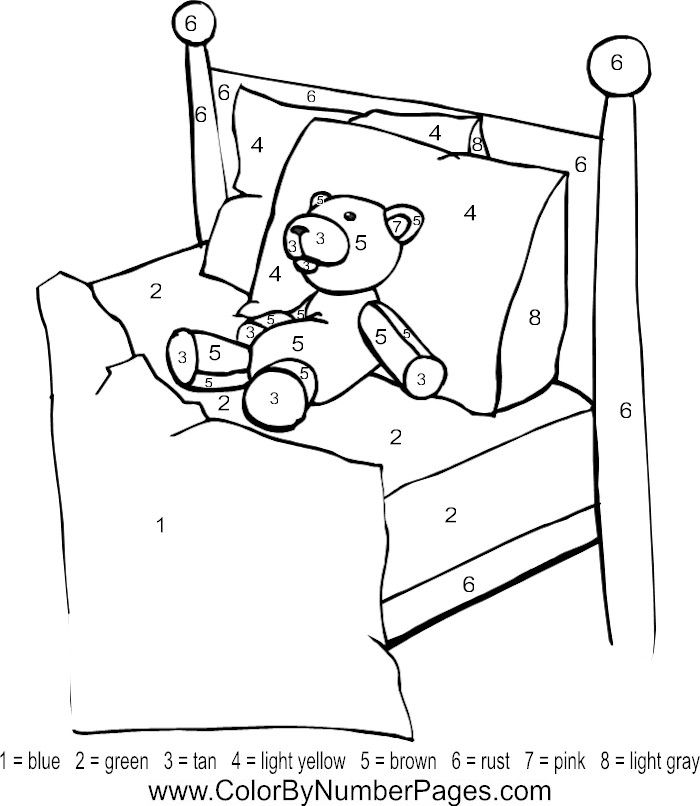 ten in a bed coloring pages