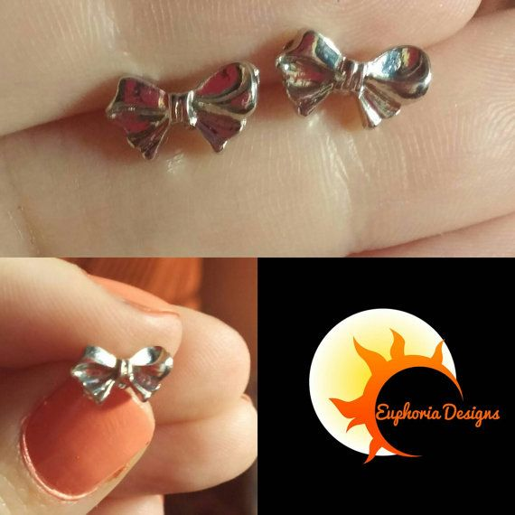 Check out this item in my Etsy shop https://www.etsy.com/ca/listing/472588993/cute-bow-stud-earrings