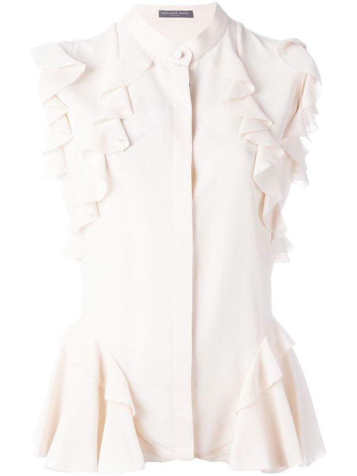Alexander McQueen блузка с оборками