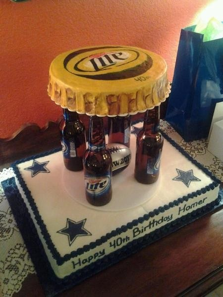 love this idea for a grooms cake, just with bud light and the SAINTS !