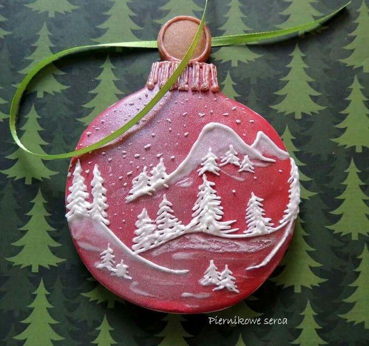 Piernikowe Serca: Christmas ornament cookie. ♡♡♡♡♡