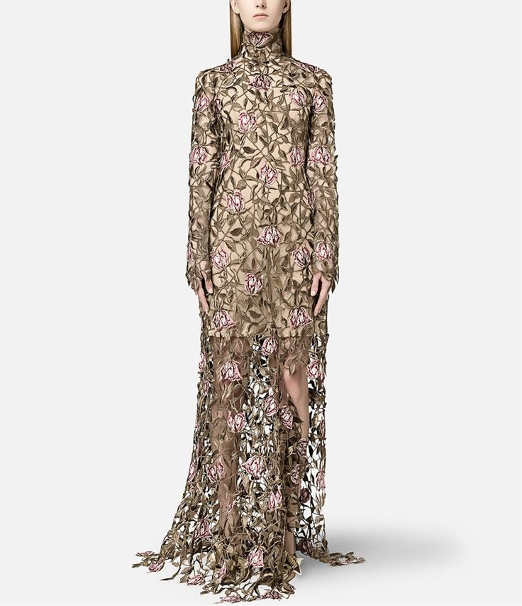 christopher kane rose embroidered dress