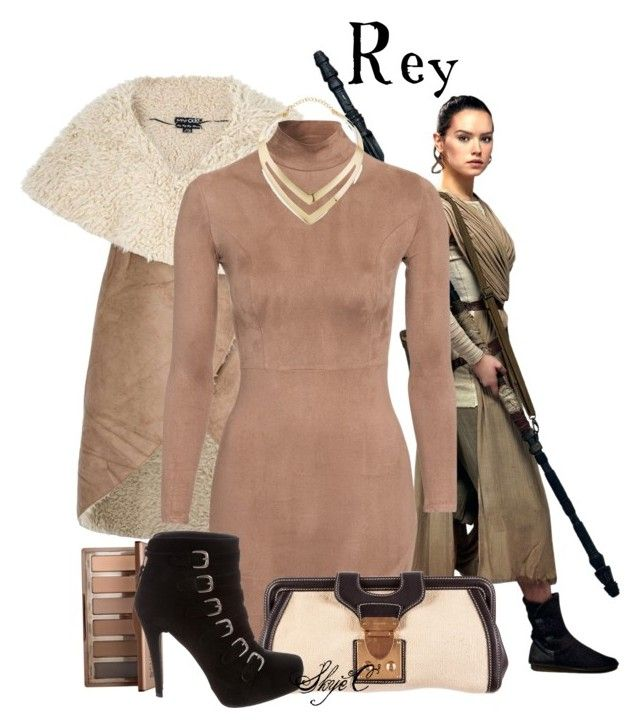 """Rey - Winter Formal - Star Wars: The Force Awakens"" by rubytyra ❤ liked on Polyvore featuring Dorothy Perkins, Urban Decay, Miu Miu, Stuart Weitzman, Fortuni, Winter, formal, starwars, rey and forceawakens"