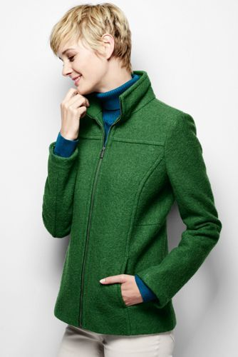 Women's Boiled Wool Jacket from Lands' End or red, gold, blue (great colors)