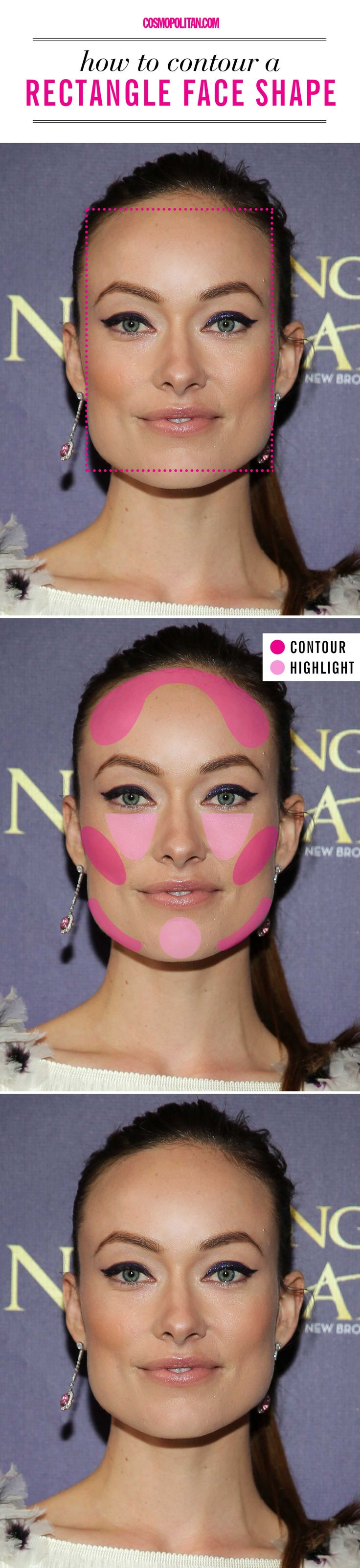 How to contour if you have a rectangle face shape.