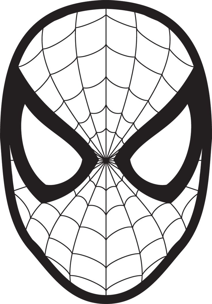 Spiderman Face Logo Spiderman Mask Clipart 23425wall.jpg