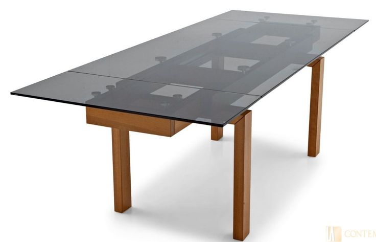 Hyperglass Calligaris Table With Smoked Tempered Glass In