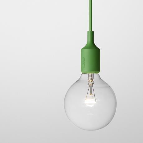 Socket Lamp E27, green