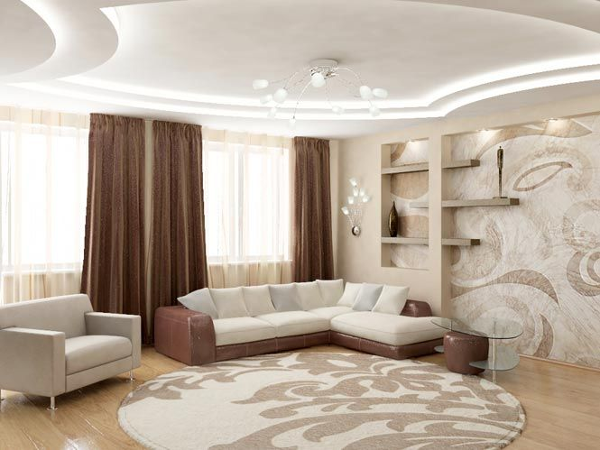 Дизайн гостиной в трехкомнатной квартире