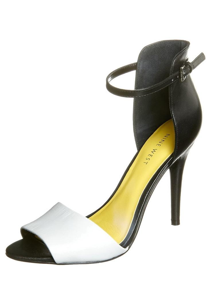 Nine West - ACRE - High Heel Sandalette - black/white/black