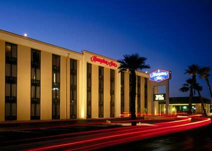 Pet Friendly in Lake Havasu Hampton Inn Lake Havasu City Hotel, AZ - Exterior at Night