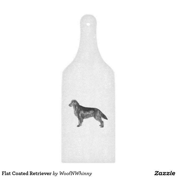 Flat Coated Retriever Cutting Board by WoofNWhinny*  #cheeseboard #flatcoat #flatcoatedretriever #retriever #doglover #giftidea #hostessgifts