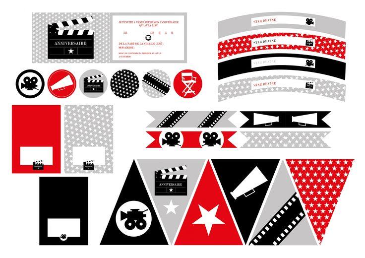 Printable anniversaire Cinéma