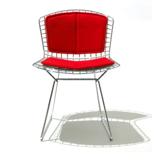 Outdoor Bertoia Side Chair with Seat Pads | YLiving