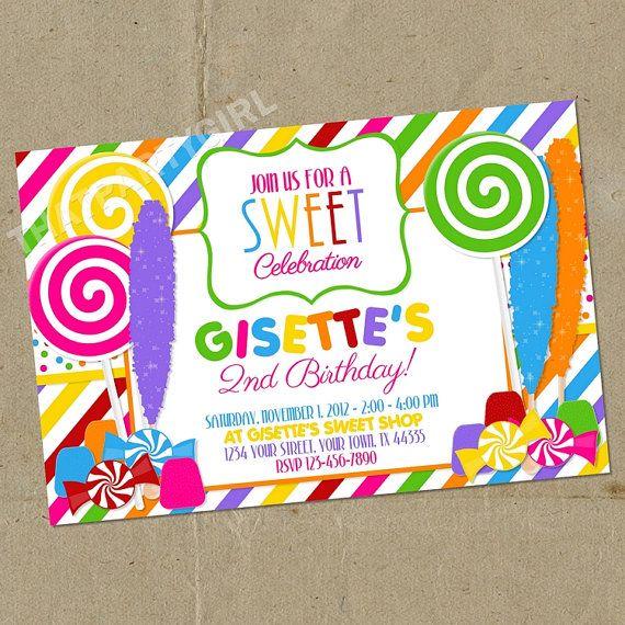 Candy Shoppe Shop / Sweet Shoppe Shop Invitations