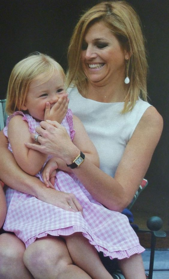 Dutch Queen and mama Maxima with Youngest Princess Ariane on the Eikenhorst (their estate)
