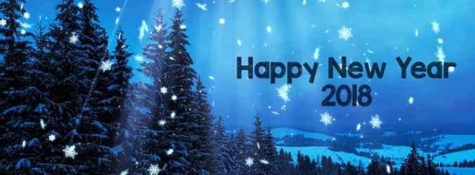 Happy New Year 2018 Facebook Cover Images