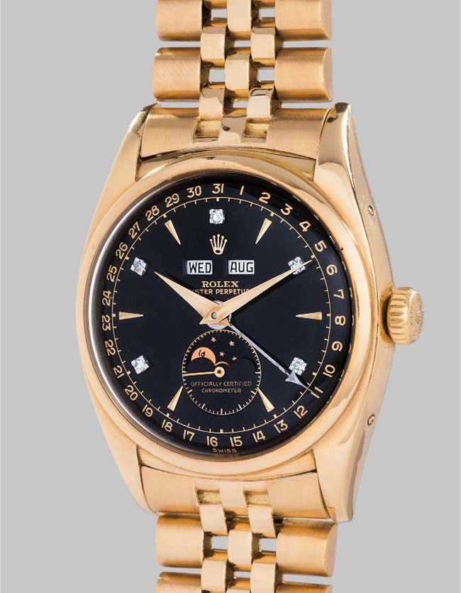Bao Dai Watch Becomes World's Most Expensive Rolex $5.1 Million #baodai #rolex #vintagerolex #predaytona #6238 #baodai #womw #gwa5 #mostexpensive  #mostexpensiverolex #vietnam #Oyster #Perpetual #Moonphase @phillipswatches