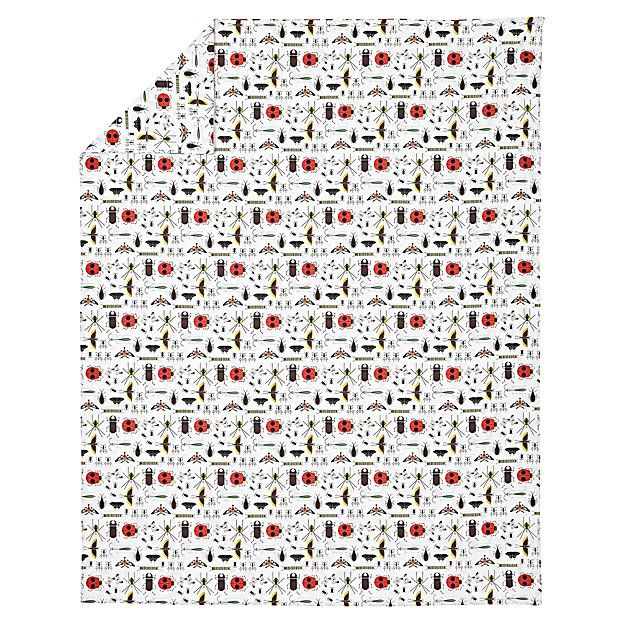 Organic Charley Harper Bug Twin Duvet Cover | The Land of Nod