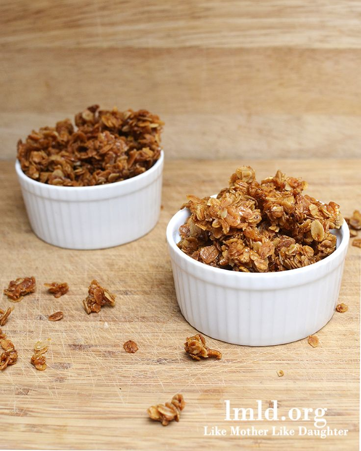 A simple and delicious homemade granola #recipe! I added lots of nuts and dried fruit.