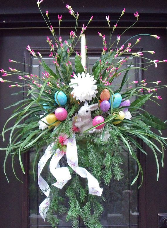 Spring Wreath Easter Wreath Easter Wall Basket, ETSY