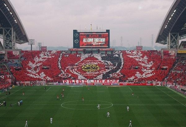 Urawa reds Choreography league match#32 vs Sanfrecce Hirosima 11/17/2012 @Naomi Goto-Lee stadium 2002