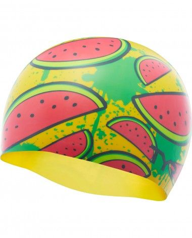 e4b907562d4 Watermelon Silicone Adult Swim Cap | Swimming | Swim caps, Cap, Pink