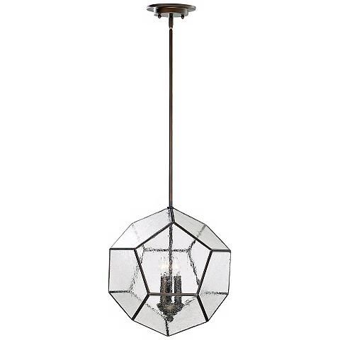 "Bradford 14 1/2"" Wide Oiled Bronze Pendant - #3T912   Lamps Plus"