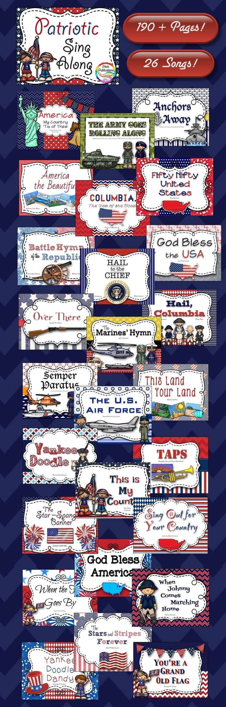 Incorporating history of independence day and music, this pin is a great way to teach about some of the important historical songs about America. As a future teacher, this is great because it teaches students about the history of our country as well as informing them about songs like the Star Spangled Banner. I would use this in my 2nd to 3rd grade classroom to explain the importance of Independence day.