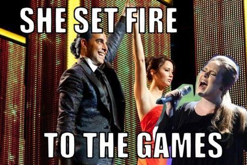 Silly AdeleThe Hunger Games Funny, Hunger Games Jokes, Go Girls, Favorite Things, Hungergames, Katniss Everdeen, Hunger Games Humor, So Funny, Sets Fire